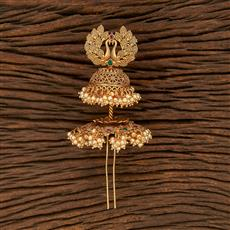 207923 Antique Classic Hair Brooch With Gold Plating