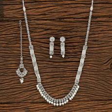 207924 Antique Long Necklace With Rhodium Plating