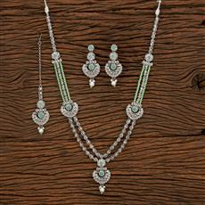 207925 Antique Long Necklace With Rhodium Plating