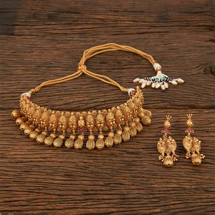 207953 Antique Choker Necklace With Gold Plating