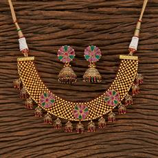 207956 Antique Choker Necklace With Gold Plating
