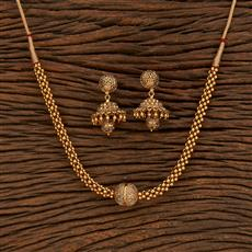 207961 Antique Choker Necklace With Gold Plating