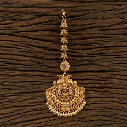 207982 Antique South Indian Tikka With Gold Plating