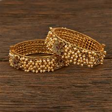 208016 Antique Classic Bangles With Gold Plating