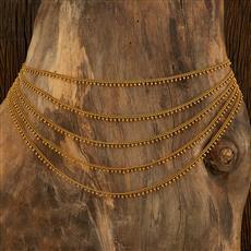 208029 Antique Plain Kamar Patta With Gold Plating