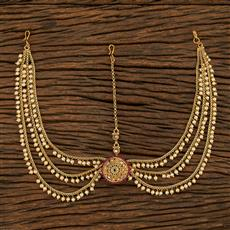 208038 Antique Bore Damini With Gold Plating