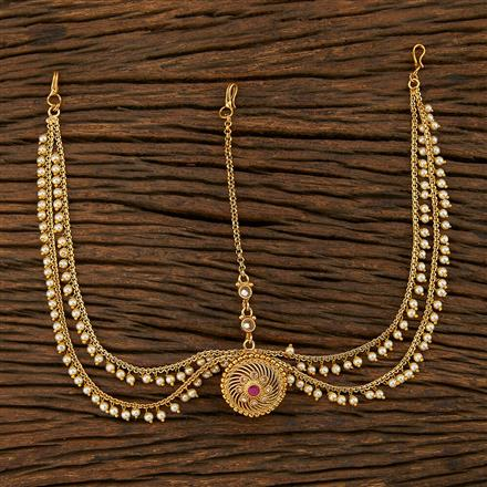 208039 Antique Bore Damini With Gold Plating