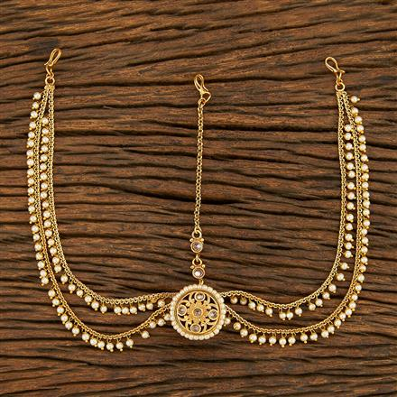 208041 Antique Bore Damini With Gold Plating