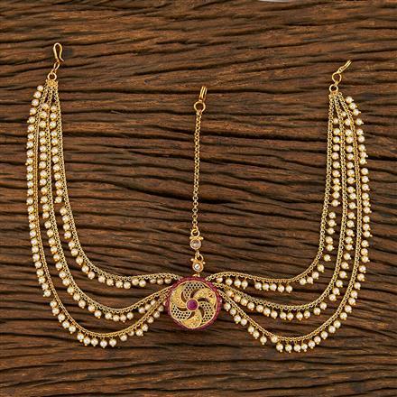 208044 Antique Bore Damini With Gold Plating