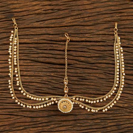 208045 Antique Bore Damini With Gold Plating