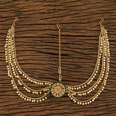 208046 Antique Bore Damini With Gold Plating