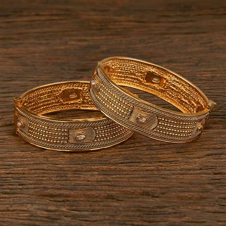 208056 Antique Openable Bangles With Gold Plating