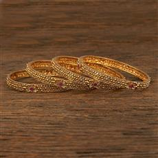 208057 Antique Delicate Bangles With Gold Plating