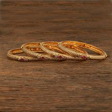 208058 Antique Delicate Bangles With Gold Plating