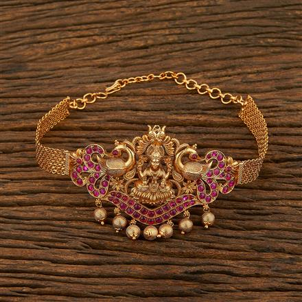 208095 Antique Temple Baju Band With Matte Gold Plating