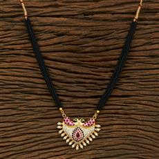 208099 Antique Classic Mangalsutra With Gold Plating