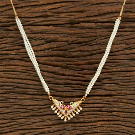 208100 Antique Peacock Pendant Set With Gold Plating