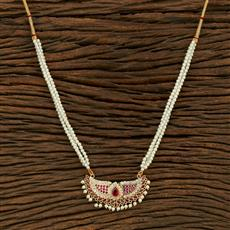 208101 Antique Delicate Pendant Set With Gold Plating