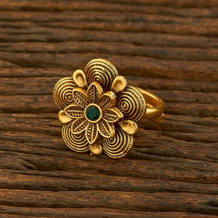 208126 Antique Classic Ring With Matte Gold Plating
