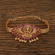 208136 Antique Temple Baju Band With Matte Gold Plating