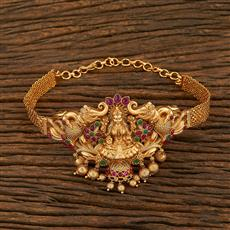 208137 Antique Temple Baju Band With Matte Gold Plating