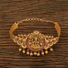 208138 Antique Temple Baju Band With Matte Gold Plating
