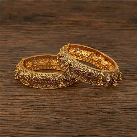208166 Antique Openable Bangles With Gold Plating