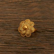 208183 Antique Plain Ring With Matte Gold Plating