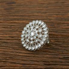 208194 Antique Classic Ring With Rhodium Plating