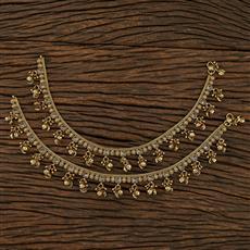 208220 Antique Ghungru Payal With Mehndi Plating
