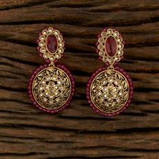 208224 Antique Classic Earring With Mehndi Plating