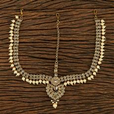 208230 Antique Chand Damini With Mehndi Plating