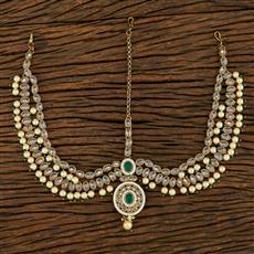 208231 Antique Classic Damini With Mehndi Plating