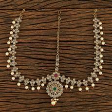208232 Antique Classic Damini With Mehndi Plating