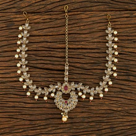 208233 Antique Chand Damini With Mehndi Plating