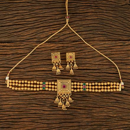 208265 Antique Choker Necklace With Gold Plating