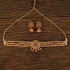 208266 Antique Mala Necklace With Gold Plating
