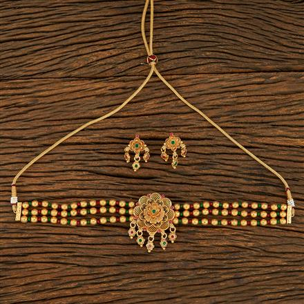 208267 Antique Choker Necklace With Gold Plating