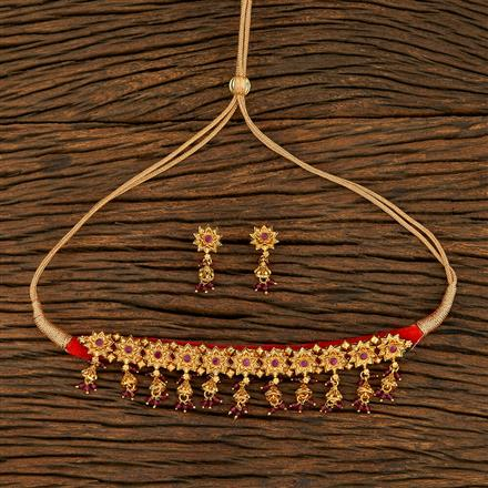 208269 Antique Choker Necklace With Gold Plating