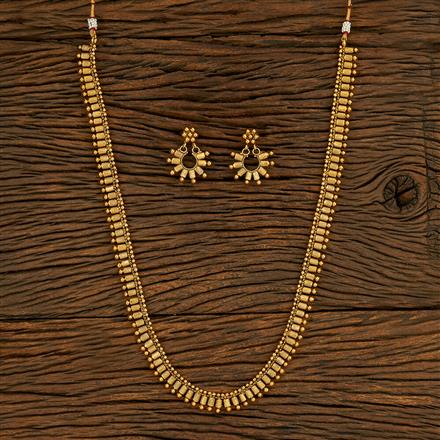 208279 Antique Long Necklace With Gold Plating