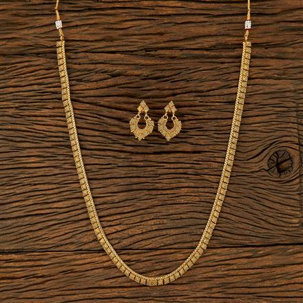 208280 Antique Long Necklace With Gold Plating
