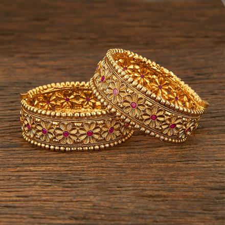 208283 Antique Openable Bangles With Gold Plating