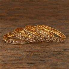 208285 Antique Delicate Bangles With Gold Plating