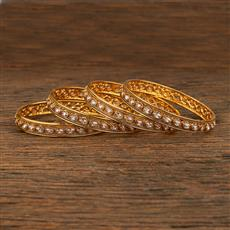 208286 Antique Delicate Bangles With Gold Plating