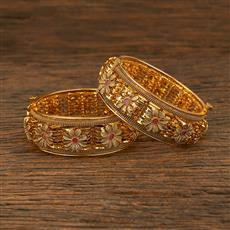 208287 Antique Openable Bangles With Gold Plating