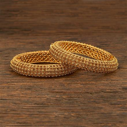 208288 Antique Plain Bangles With Gold Plating