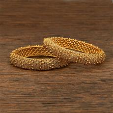 208289 Antique Plain Bangles With Gold Plating