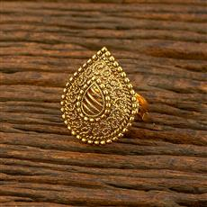 208299 Antique Plain Ring With Gold Plating