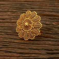 208300 Antique Plain Ring With Gold Plating