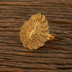 208301 Antique Plain Ring With Gold Plating